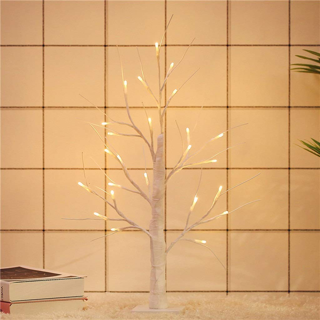 RXY-LAMP Nordic Style LED Tree Lights, Bedroom Night Light Decoration Table Lamp (Size : 59x38cm)