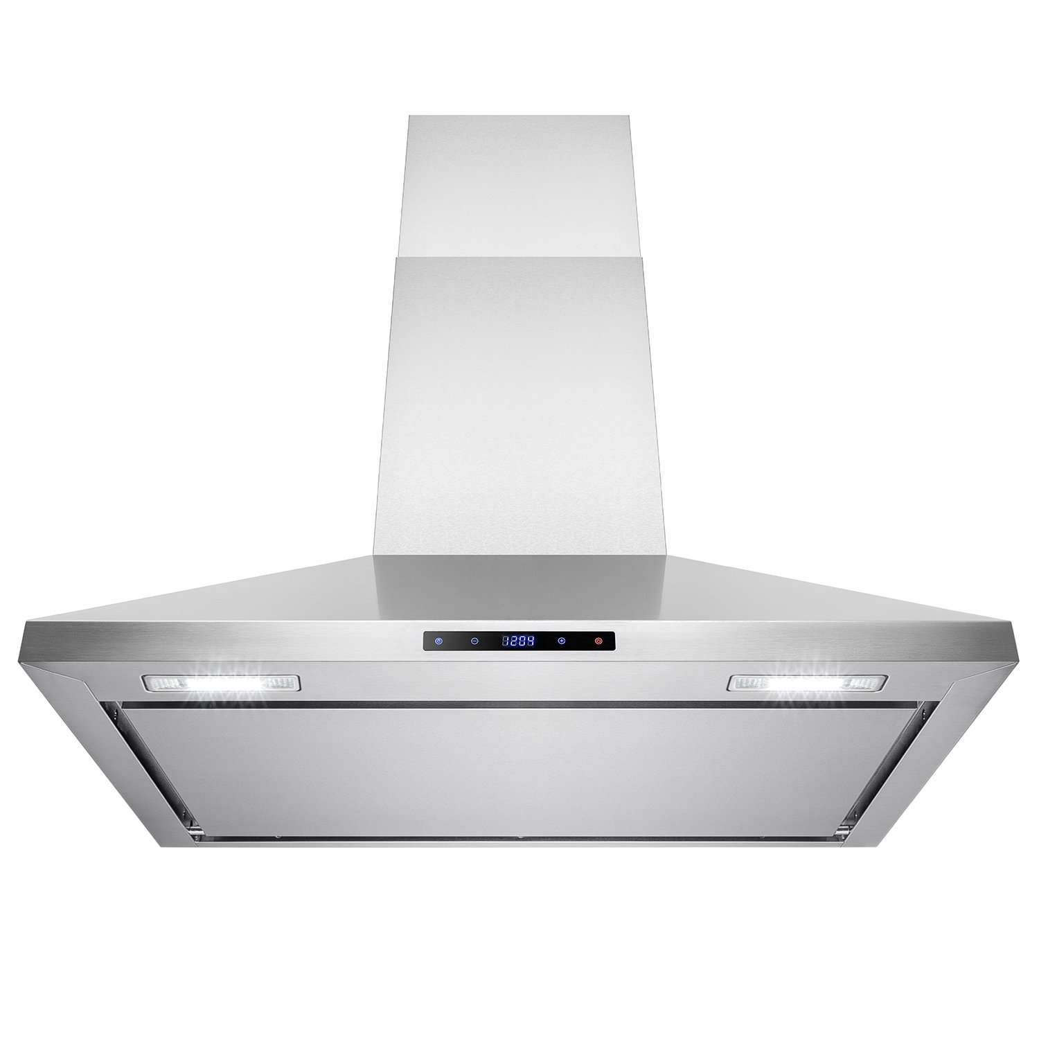 "AKDY 36"" Stainless Steel Wall Mount Cooking Fan Vent Touch Control Display Range Hood Noise Reduce Design AK-B0390P"