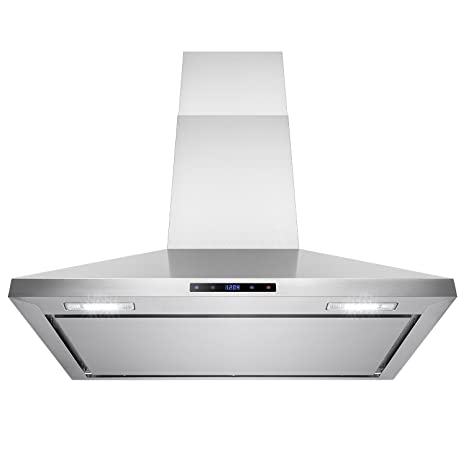 AKDY 36u0026quot; Stainless Steel Wall Mount Cooking Fan Vent Touch Control  Display Range Hood Noise