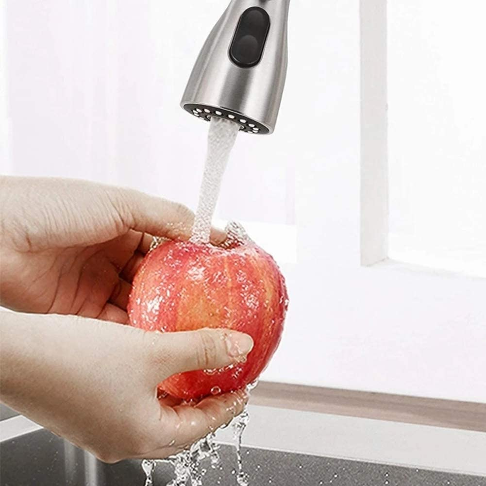 Color : -, Size : - Kitchen Bathroom Tap Faucet Pull Out Shower Head Water Spray Replacement Head Sprinkler Three-Function Pause Pull Head SZWHO
