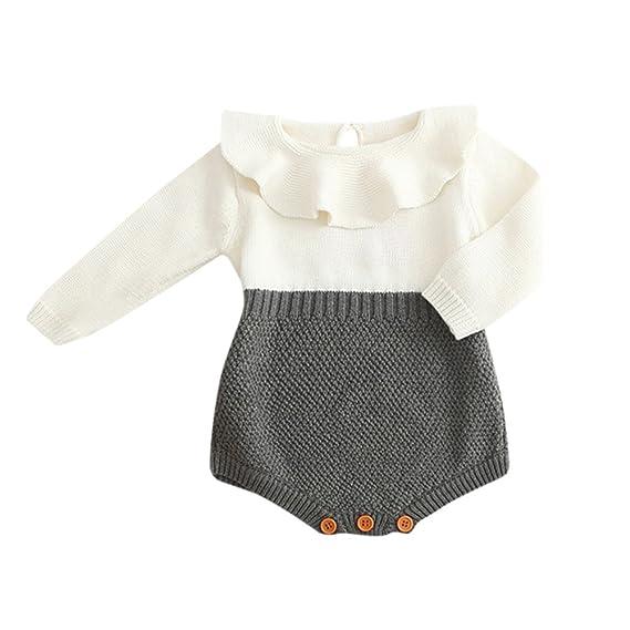 ❤ Tejido de Punto para niños niñas, suéter de Punto bebé Princesa de Invierno Mono Ropa Absolute: Amazon.es: Ropa y accesorios