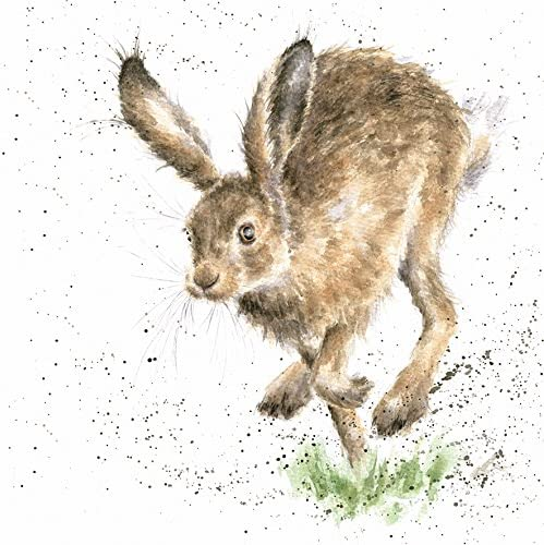 Wrendale Designs-The Country Set-Blank Greetings Card-Hare-Rabbit-Into The Wild