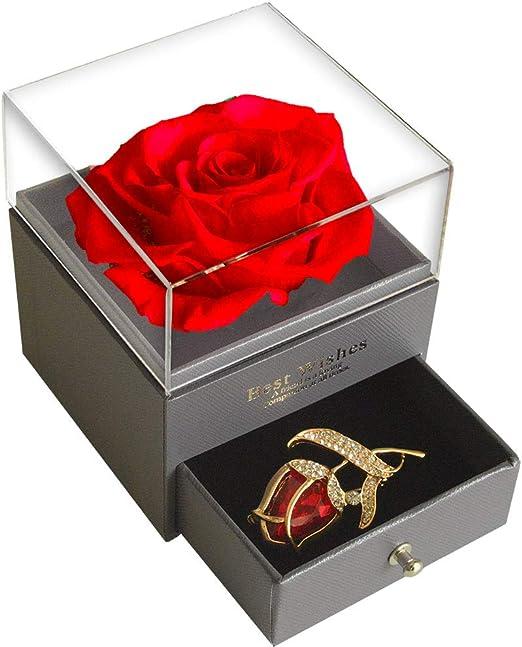 Handmade Preserved Flower Eternal Rose with LED Light Gift Box For Gift New Item