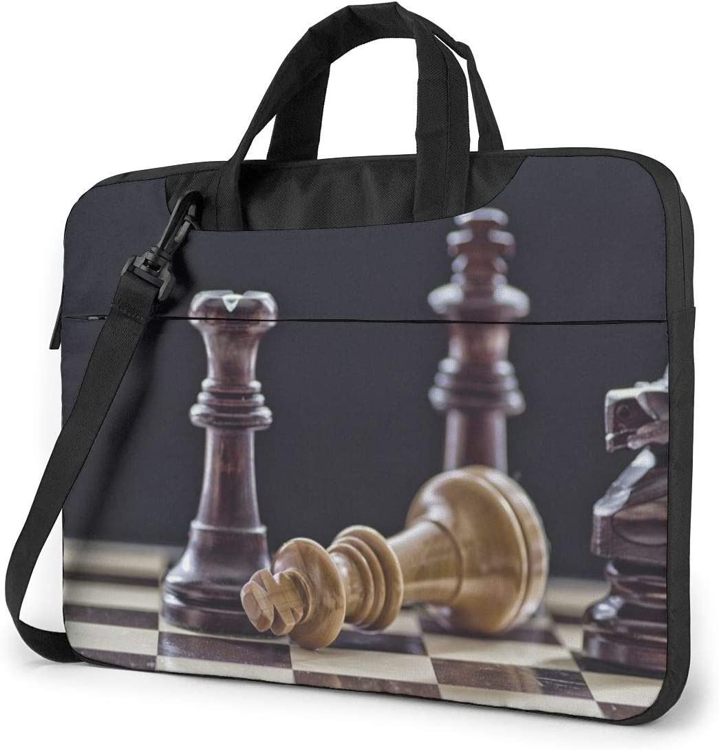 Laptop Case Computer Bag Sleeve Cover Chess Waterproof Shoulder Briefcase 13 14 15.6 Inch