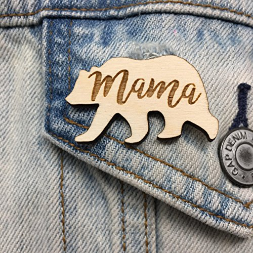 Mama Bear Pin Mother's Day Gift | Cute Last-Minute Small Gift for Mom Brooch