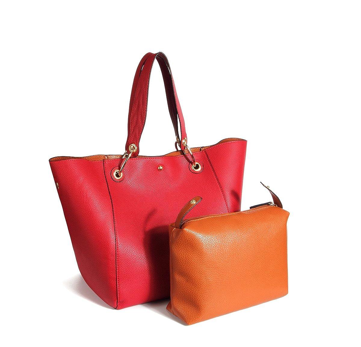 KAMIERFA Sac Seau Tote Femme /à Main Bandouli/ère Epaule Shopper Cabas en Cuir PU Grande Capacit/é Chic