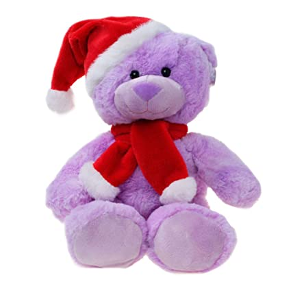 Amazon.com: WILDREAM - Oso de peluche de Navidad, color ...
