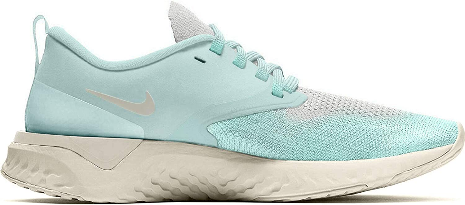 Nike Women's Odyssey React Flyknit 2 Running Shoes Teal Tint and Sail 10