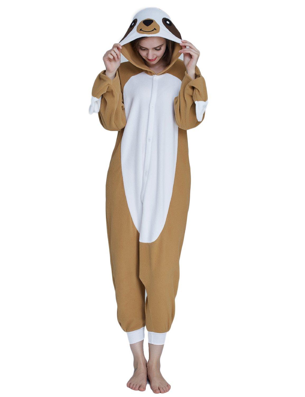 KING Fun Adult Animal Costume Unisex Pajamas Sloth Cosplay Lounge Sleepwear Small A6
