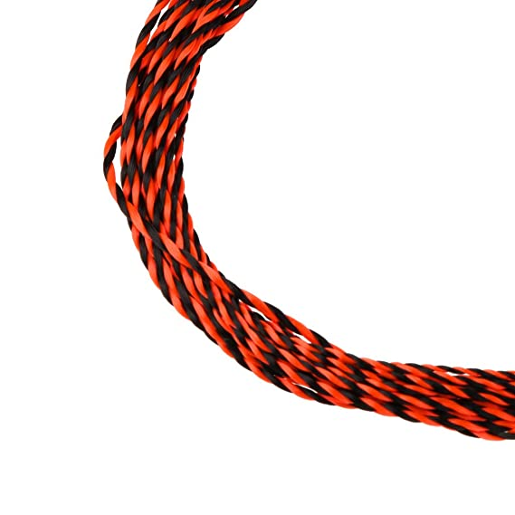 12ft+13ft Tapered Braided Fly Fishing Line with Transition Loop Orange//Blue
