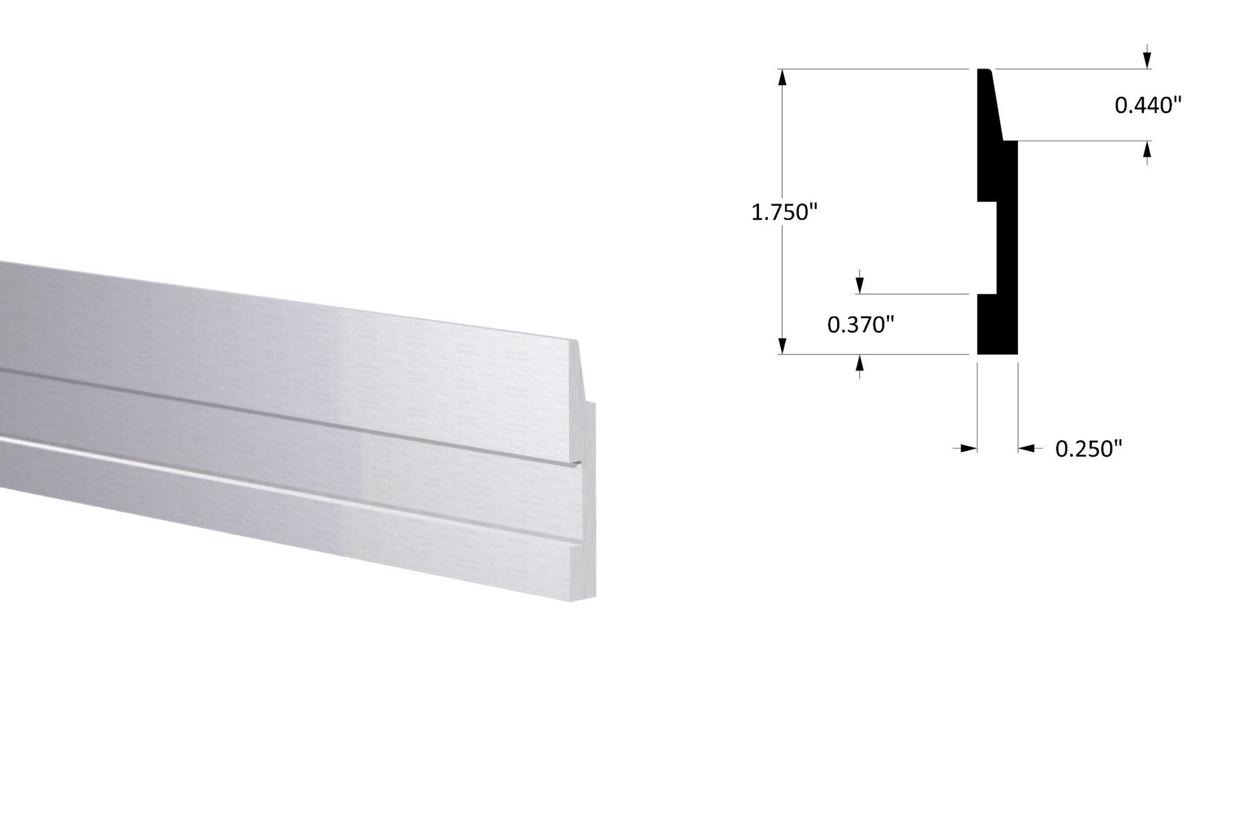 HD Panel Rail, 6ft Length NO Holes (2 Pack)
