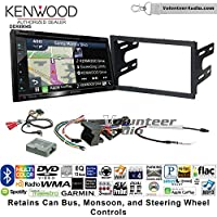 Volunteer Audio Kenwood Excelon DNX694S Double Din Radio Install Kit with GPS Navigation System Android Auto Apple CarPlay Fits 2003-2005 Volkswagen Golf, Jetta, Passat with Amplified Systems