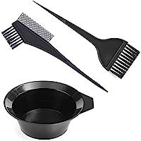 Gezimetie - Juego de 3 herramientas para colorear el cabello, para teñir el cabello, cepillo de doble cara, peine y…