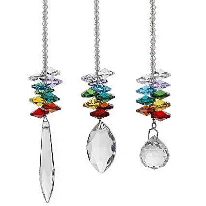 Amazon hd chandelier crystals prisms rainbow octogon chakra hd chandelier crystals prisms rainbow octogon chakra suncatcher aloadofball Choice Image