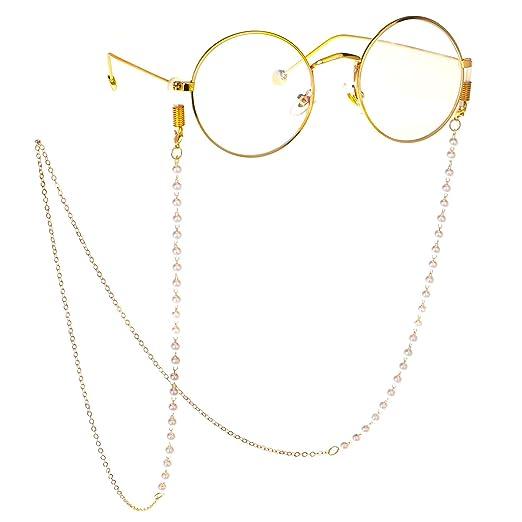 e5f0174e2e63 Eyeglass Chains for Women Beaded Reading Glasses Cords Sunglasses Holder  Strap Lanyards Eyewear of Man (