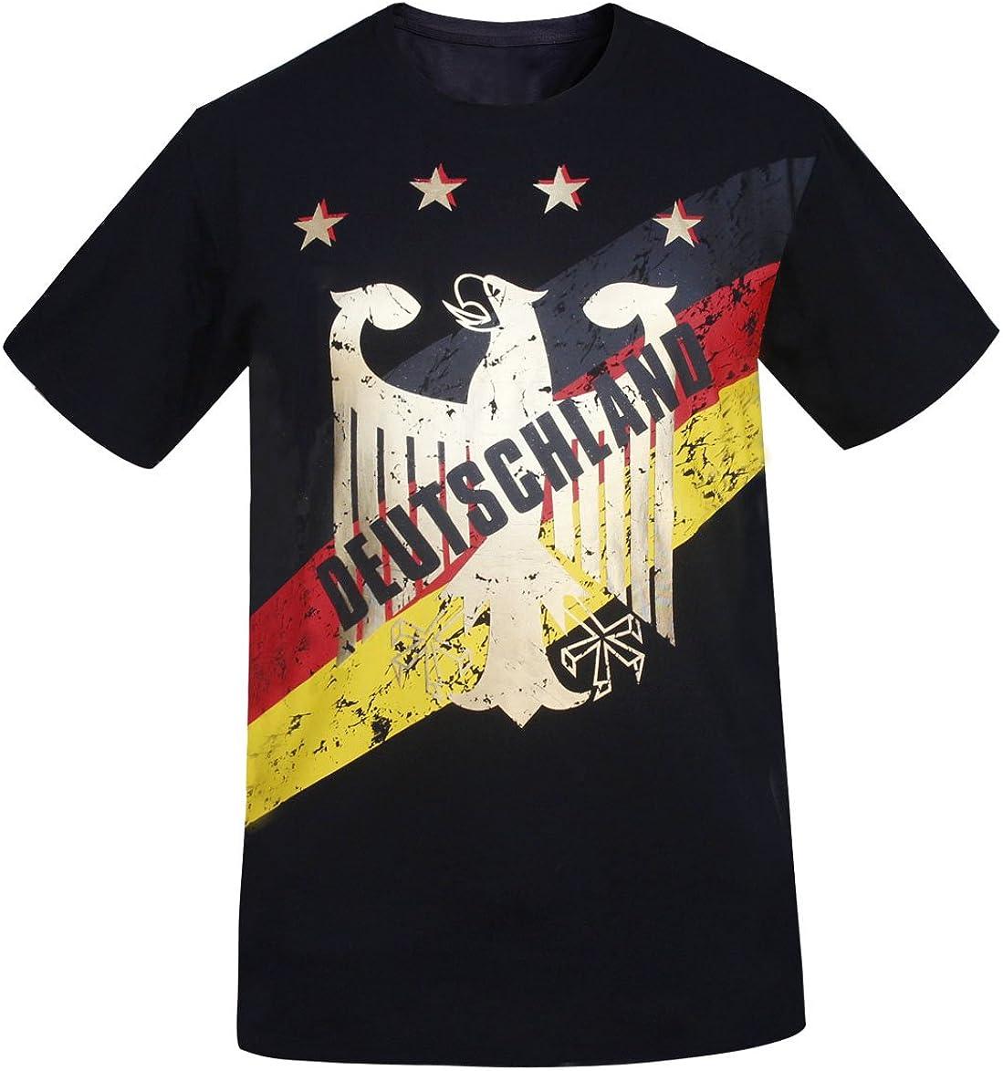 Deutschland Homme Allemagne Foil Gold Impression T-Shirts Athletic Look Vintage