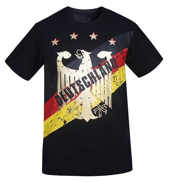 Deutschland Los Hombres de Alemania Foil Gold Printing Athletic Camisetas Vintage Look (Tamaño: S