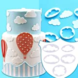5pcs Cloud Fondant Cake Decoration Printing Mold Cutter Mold For Kitchen Tool Baking Cake Cloud Nori Press by Samber