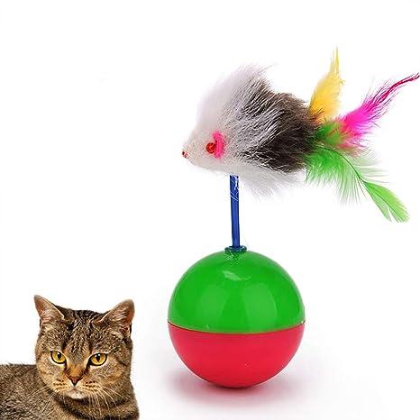 Catkoo Accesorios para Gato, Divertido Mini Vaso de ratón, Pelota ...