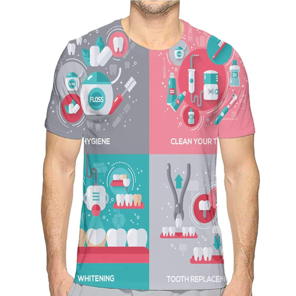 Jiahong Pan T-Shirt for Men Black Fashion Mens 3D Top Tees