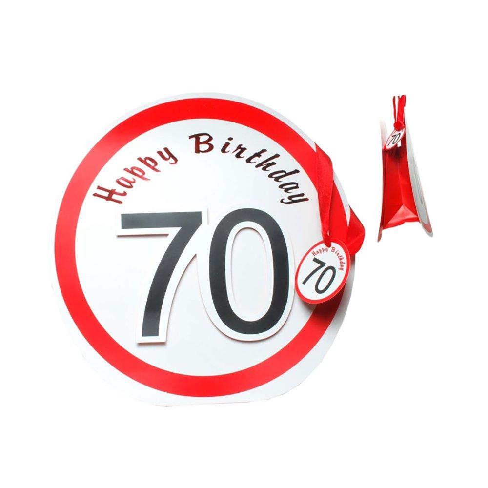 Geschenkverpackung Geburtstagsartikel Preis am Stiel 1 x Geschenk-T/üte Verkehrszeichen 50 Geburtstagsdekoration Partydeko 50 Geburtstag Gl/ückwunsch Geburtstagsaccessoires