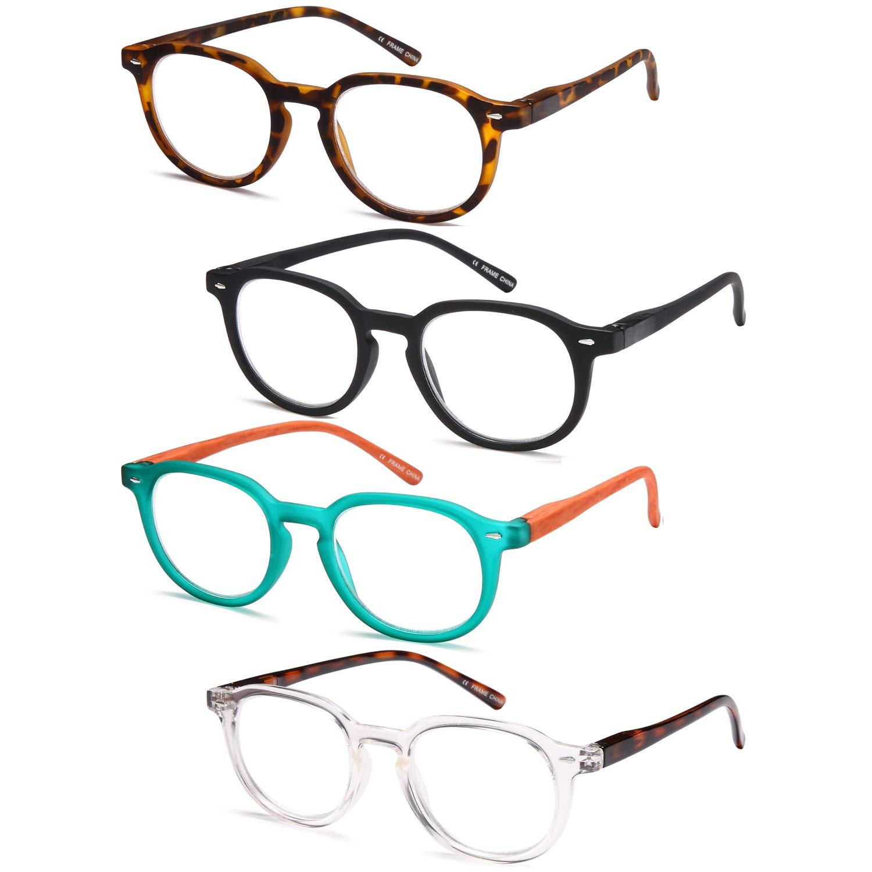 Gamma Ray Reading Glasses - 4 Pairs Flex Round