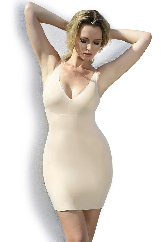 ICONOFLASH Women/'s Firm Control Body Shaping Slip Dresss
