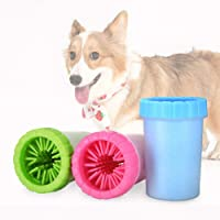 Ezonedeal Dog Paw Cleaner Portable Pet Cleaning Brush Cup Silicone Dog Foot Washer Brush 360 Degree Soft Silicone Claws…