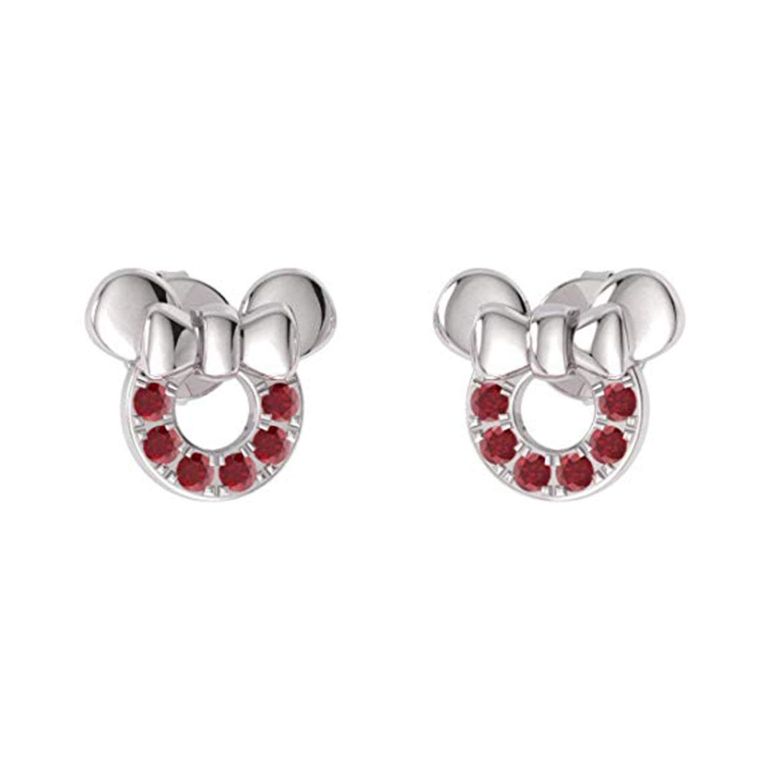 Disney Micky Mouse 14K White Gold Plated Simulated Diamond Stud Earrings For Womens Girls Jewellery