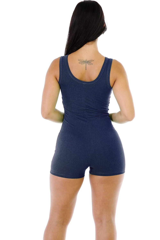 Mfasica Womens Sleeveless One Piece Bodysuit Bodycon Rompers Overall