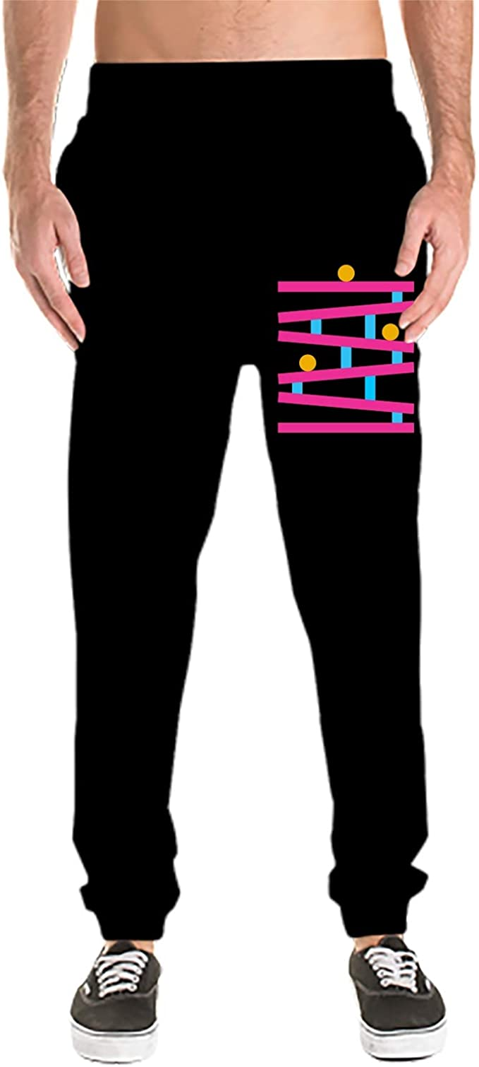 Casual Gym Workout Sweatpants Pockets Anyako Teamfor White Mens Jogger Sport Pants