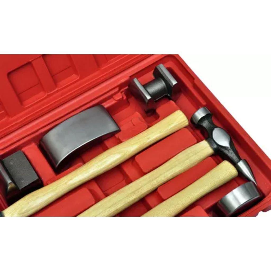 Nishore Panel Estuche Kit Martillos y Tases para Reparaci/ón de Abolladuras Coche 7 Piezas Ideal para Quitar Abolladuras y Dar Forma