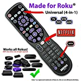 Made for Roku Anderic 4-Device Universal Remote Control for ALL TVs/Roku TVs/HDTVs/Smart (& Dumb) TVs/Blu-Ray Players/Audio/Sound Bars/Roku Universal Remote - RRUR01.2
