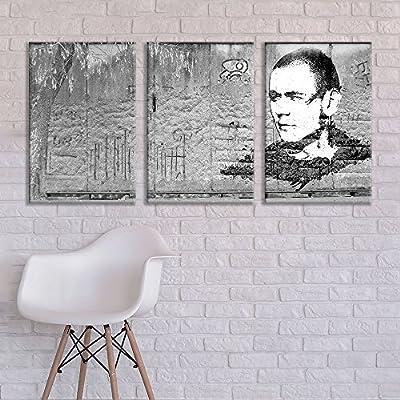 3 Panel Triptych Street Graffiti Series Criminal x 3 Panels, Premium Product, Lovely Craft