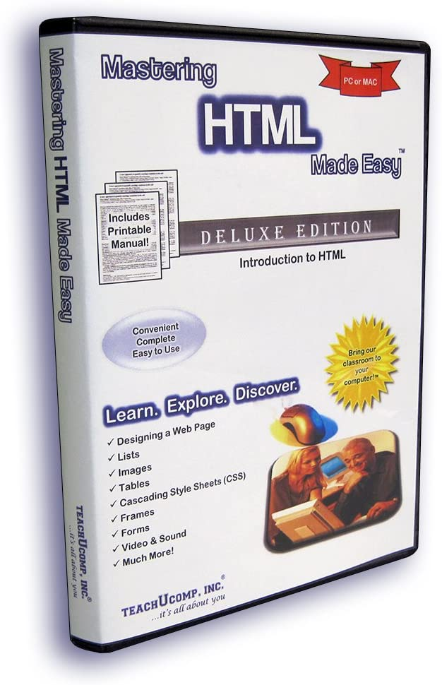 Amazon Com Mastering Html Made Easy Training Tutorial V 4 How To Use Html Video E Book Manual Guide Even Dummies Can Learn Web Design From This Total Cd For Everyone With