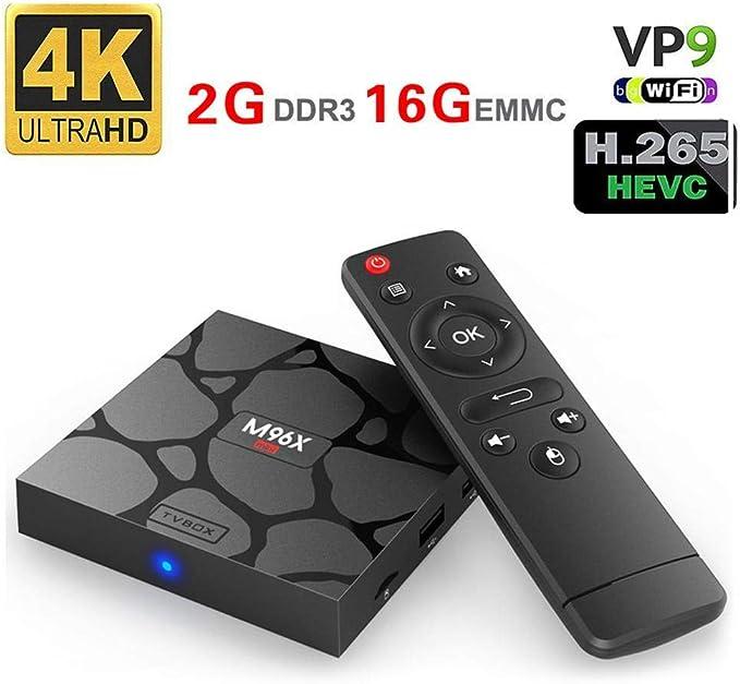 Smart Android TV Box, M96X Mini Set Top Box Amlogic S905X 2G+16G Network Player TV Box Media Player with Remote Control: Amazon.es: Salud y cuidado personal