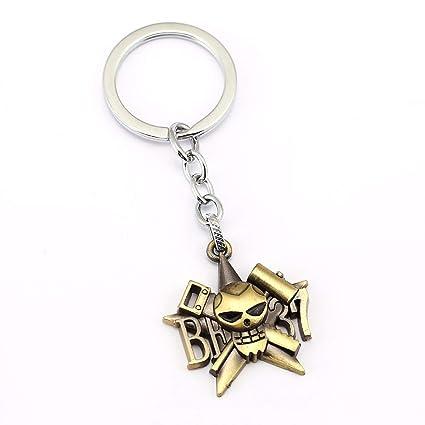 Amazon.com : Mens car Key Chain ONE Piece Skull Keychain Car ...