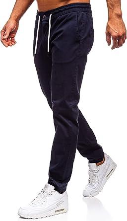 BOLF Hombre Pantalón Jogger Pantalones de Algodón Pantalón Deportivo Estilo Urbano 6F6: Amazon.es: Ropa y accesorios
