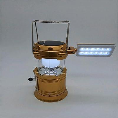 YMXJB Paquet de 2 Camping Lampe de table Lampes de poche Lanterne solaire rechargeable Randonnée LED Lampes, Tent portatif lampe torche d'extérieur lumineux d'intérieur ultra pour l'équipement de s