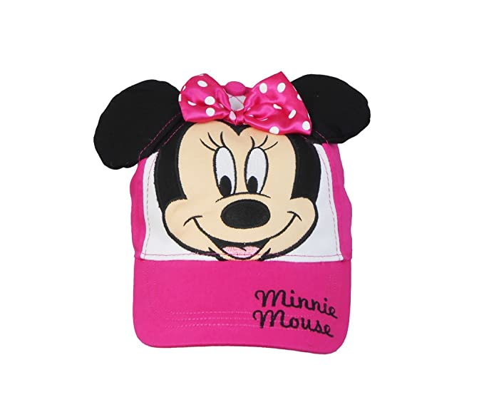 Gorra Minnie Mouse Face Youth Girls con lazo y orejas adjuntos fucsia   Amazon.es  Ropa y accesorios 065e4bc4d4a