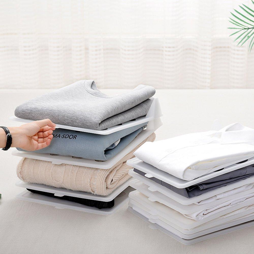 33x26x4.5cm pl/ástico Ropa Beige aaerp para apilar Camisetas 1 Organizador Plegable de Ropa para el hogar