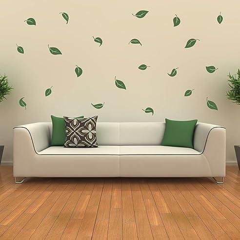 Wandtattoo Blätter Laub Wandaufkleber Wanddekoration Blatt ...