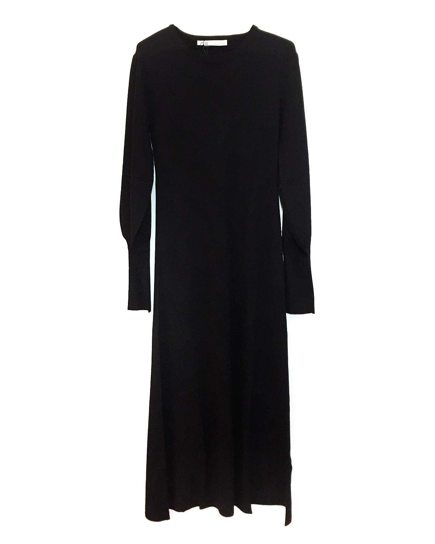 afb10598 Zara Women Puff Sleeve Dress 2162/002 at Amazon Women's Clothing store: