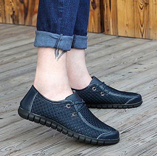 YiLianDa Zapatos Casuales Verano Transpirable Slip-on de Hombres Azul