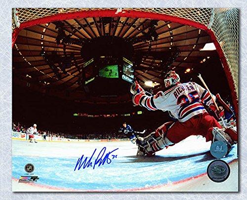 AJ Sports World Mike Richter New York Rangers Signed Madison Square Garden Net Cam 8x10 Photo