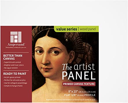 Value Canvas Texture Wood Painting Panel by Ampersand 3//8 Flat Profile 11x14