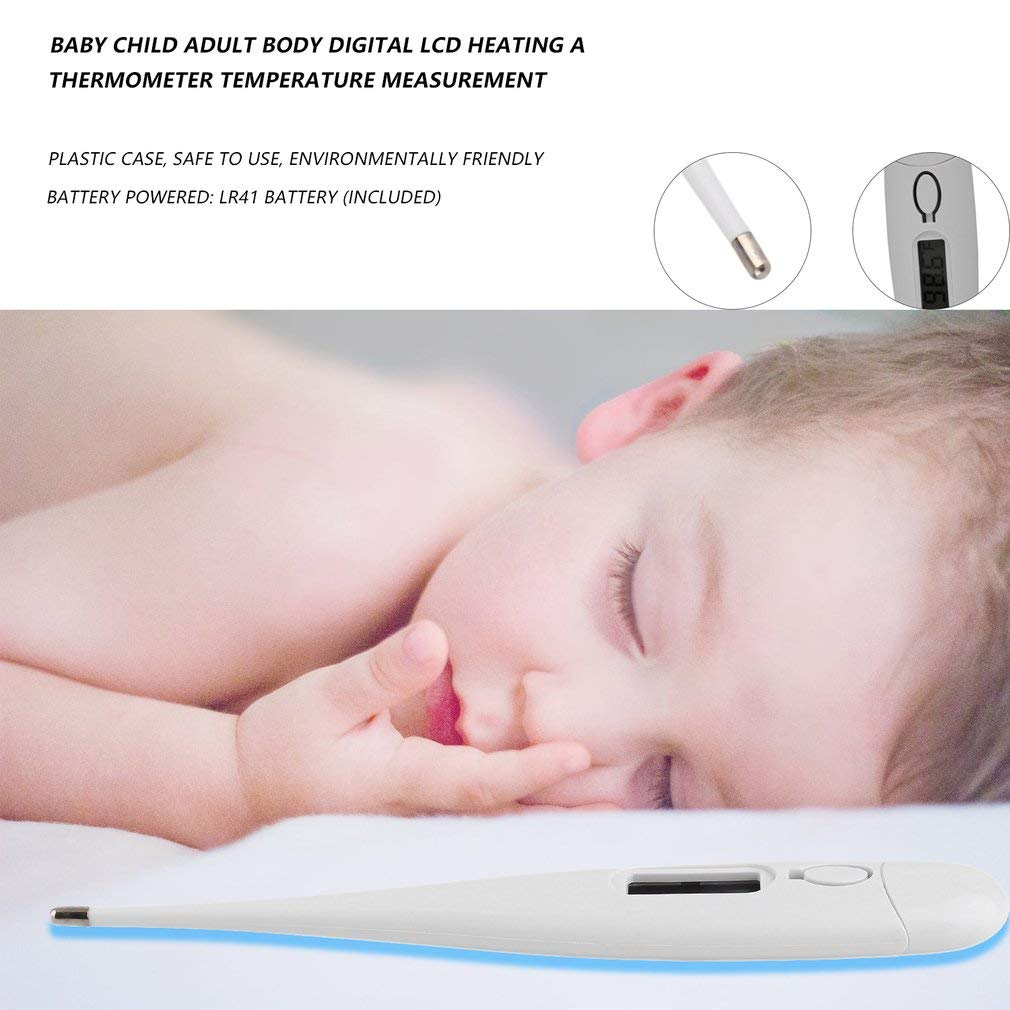 High Precision Fast Reading Digital Basic Body Thermometer Oral Underarm Measurement for Fever for Infants Kids and Adults Rectal