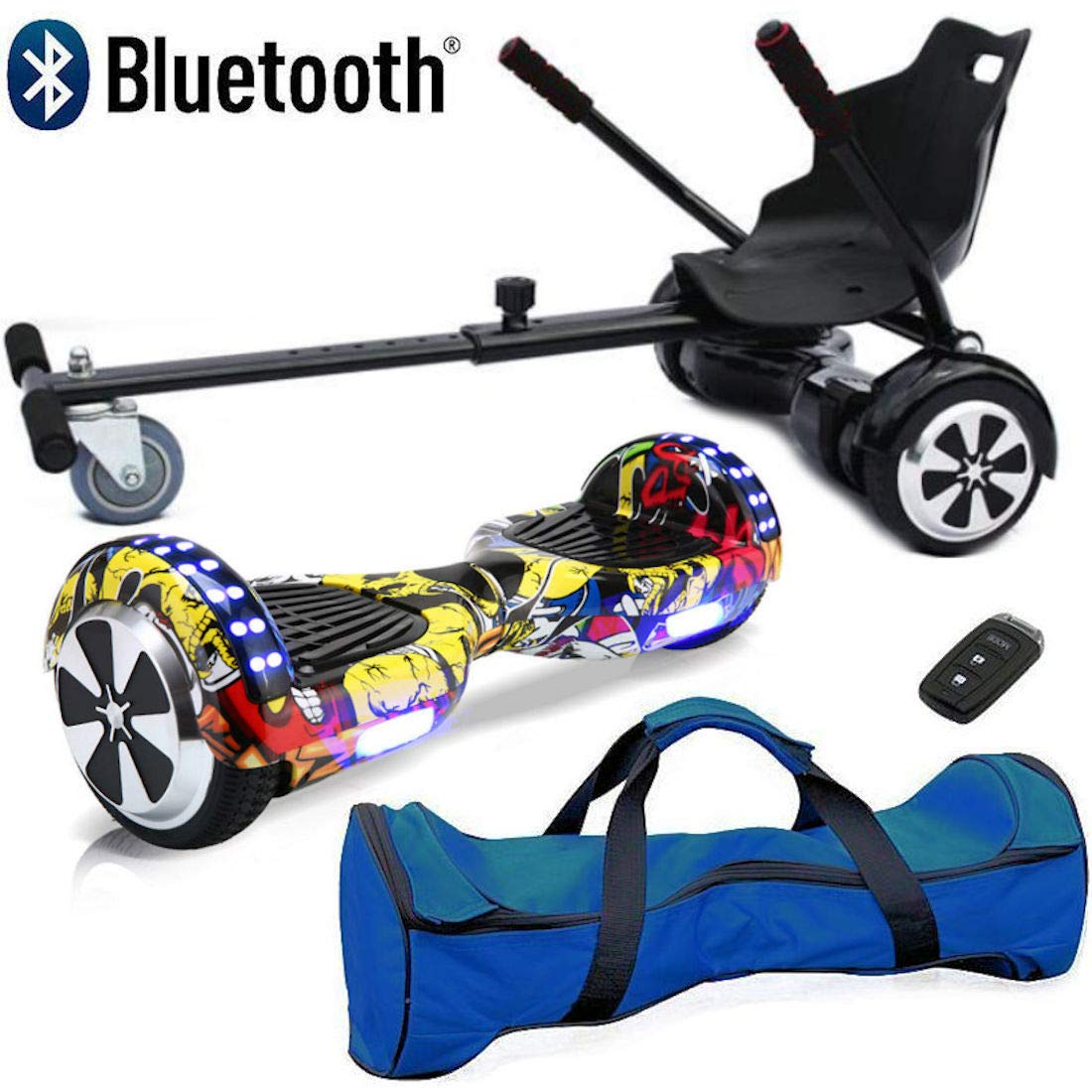 "Bluetooth 6.5/"" swegway Bundle Combo HOVER SCOOTER BOARD Auto-Balance hoverkart"