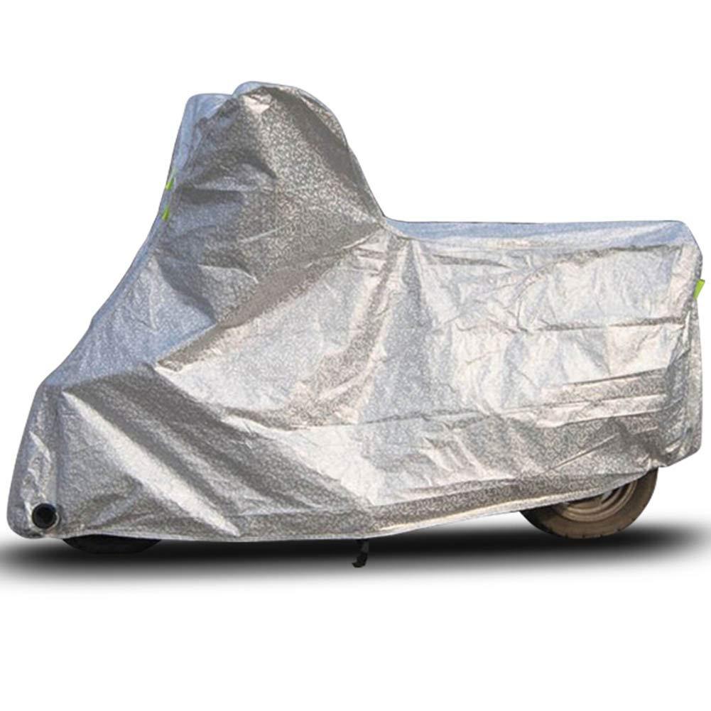 argent XL GZW001 Couverture en Aluminium de Papier d'aluminium imperméable Forte d'anneau Anti-vol rétractable de Boucle de Voiture de Couverture de Meubles de Jardin électrique de Jardin, Taille 5