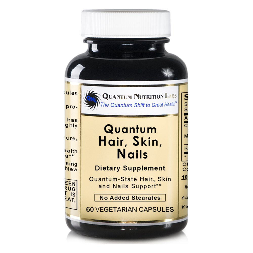 Quantum Hair, Skin, Nails-60 Capsules - Bioavailable Solubilized Keratin for Quantum-State Support for the Skin, Hair and Nails